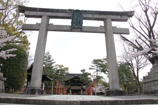 京都「豊国神社」鳥居