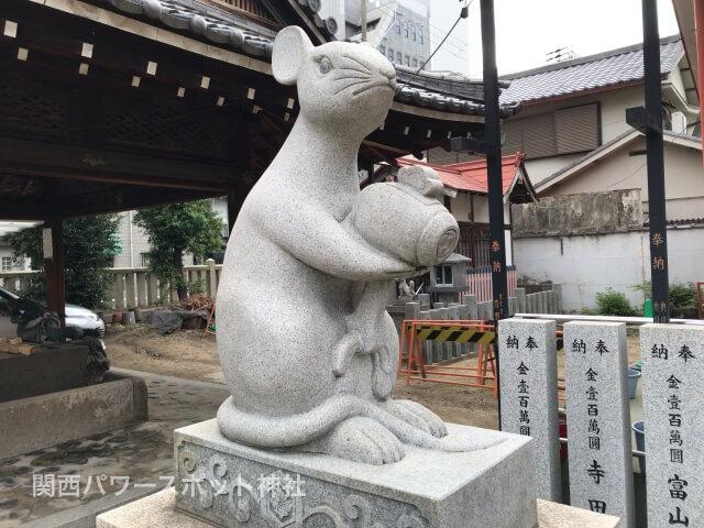 大国主神社のネズミ像