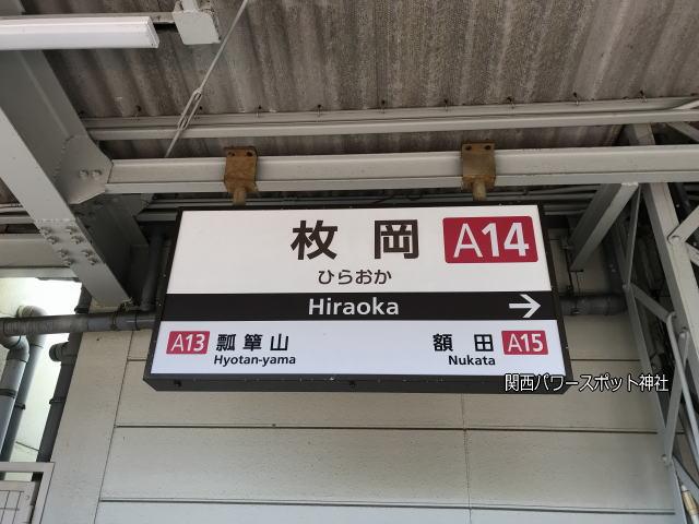 近鉄「枚岡駅」