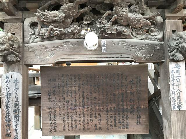 「瓢箪山稲荷神社」辻占判断の説明