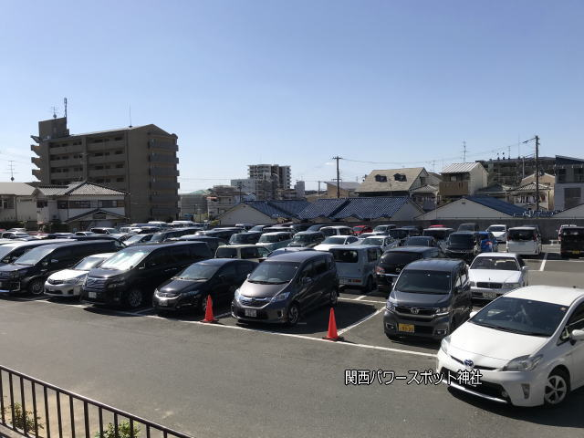 「石切劔箭神社」南駐車場