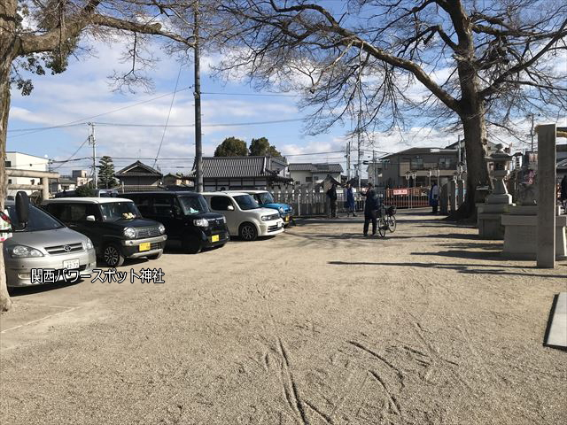 布忍神社の駐車場