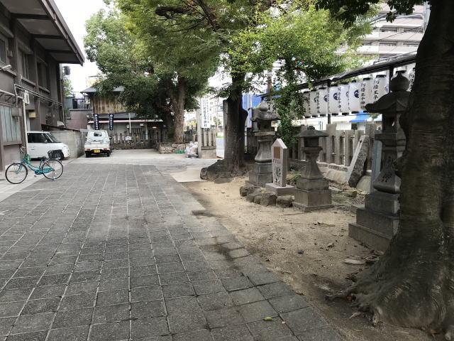 阿倍野王子神社の駐車場