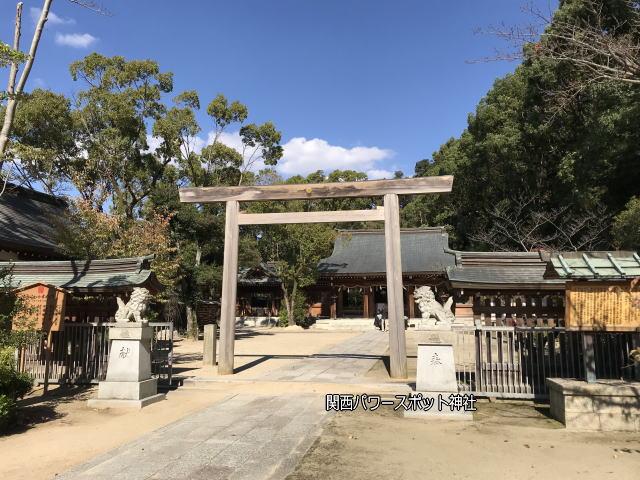四条畷神社の鳥居と本殿