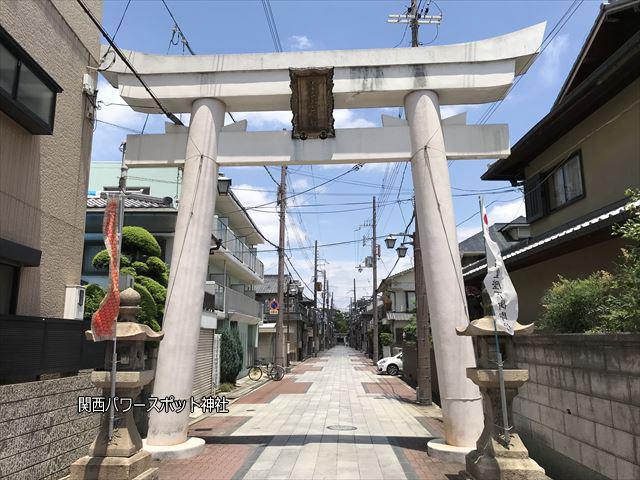 志紀長吉神社参道にある鳥居