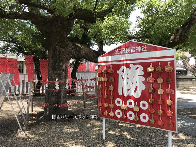 志紀長吉神社の勝絵馬飾り(六文銭)
