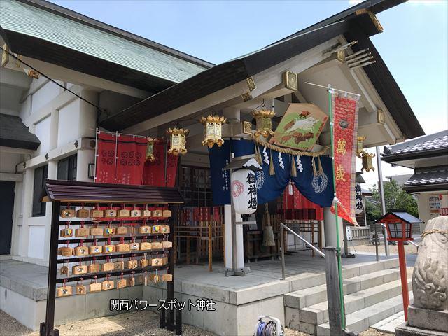 志紀長吉神社の本殿。左側から撮影