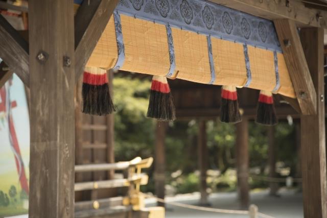 上賀茂神社の御簾