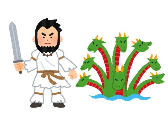須佐之男命(スサノオノミコト)と八岐大蛇(ヤマタノオロチ)