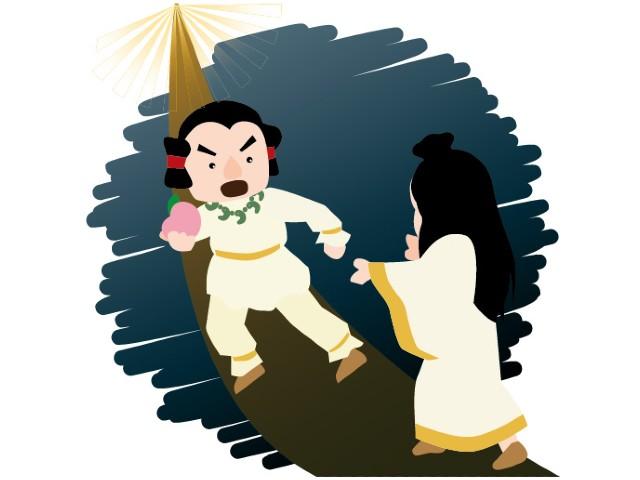 菊理媛神(くくりひめのかみ)が関係している黄泉比良坂(黄泉の国)の様子