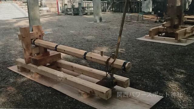 離宮八幡宮の「長木と立木模型(1/2)」