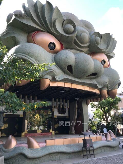 難波八阪神社「獅子殿(獅子舞台)」