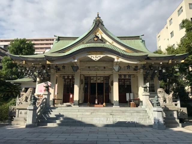難波八阪神社拝殿