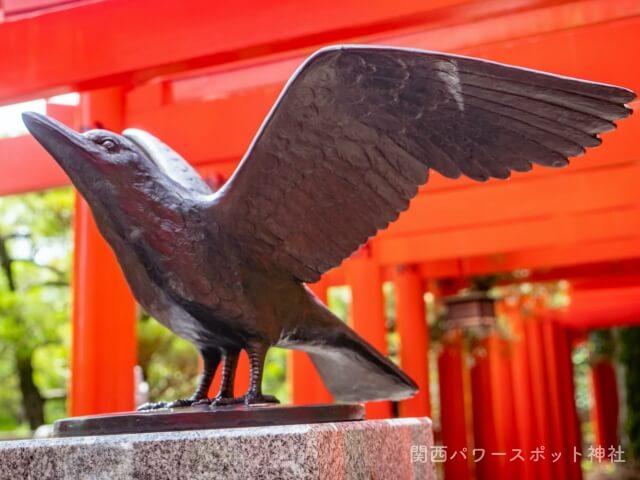 田村神社の八咫烏(ヤタガラス)