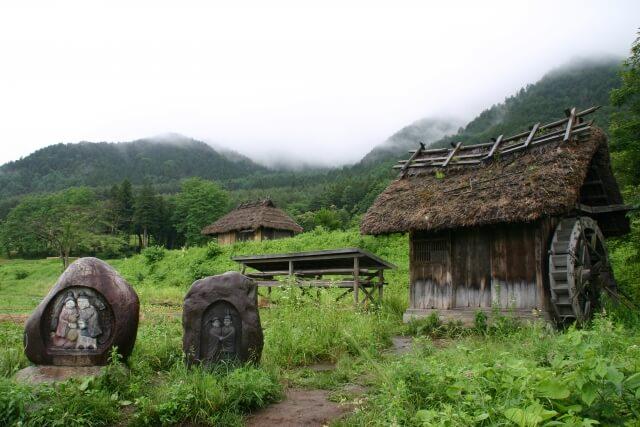 道祖神と集落